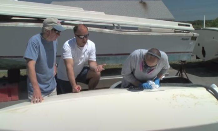 Repair fiberglass hull